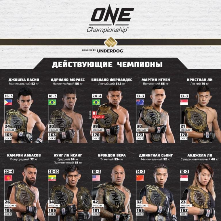 Чемпионы промоушенской организации ONE FC ONE Fighting Championship - https://arhan.club/